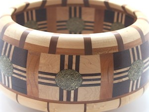 Wood bowl by Frances Farley.