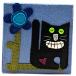 Black Cat by Lynn Holaday Felt & Quilting.