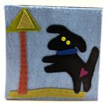 Black Dog by Lynn Holaday Felt & Quilting.