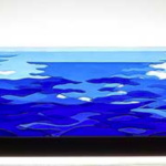 "Glassscape entitled ""Ocean Counterpoint"" by Stone Ridge Glassworks."