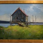 "Painting ""Sea Shack"" in oil."