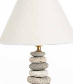 Lamp by Funky Rock Designs.